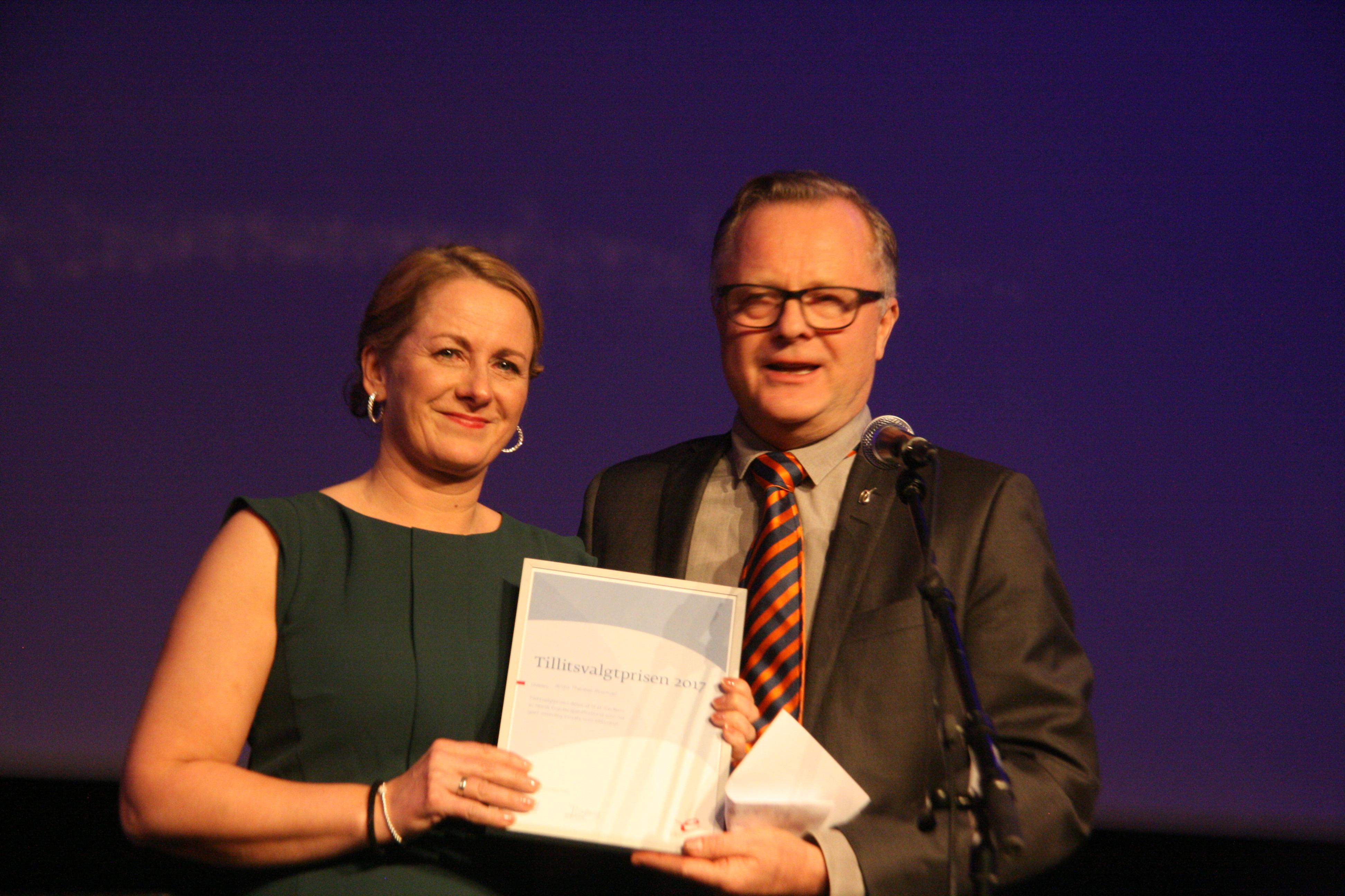 Anita Rosmæl, Tillitsvalgtprisen 2018