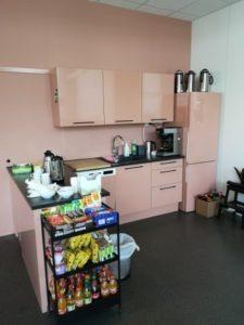 Bilde av kjøkkenkrog med mat og drikke